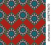moroccan seamless pattern.... | Shutterstock .eps vector #1098793670
