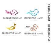 simple and modern bird logo ... | Shutterstock .eps vector #1098798569