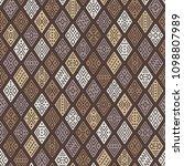 ethnic boho seamless pattern... | Shutterstock .eps vector #1098807989