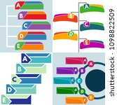 set of four  elements of... | Shutterstock . vector #1098822509
