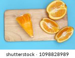 piece of orange cake | Shutterstock . vector #1098828989