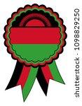 malawi award ribbon vector in... | Shutterstock .eps vector #1098829250