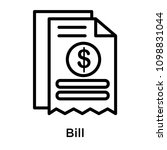 bill icon isolated on white... | Shutterstock .eps vector #1098831044
