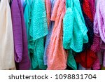 bright scarves for women | Shutterstock . vector #1098831704
