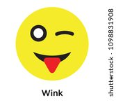 wink icon isolated on white...   Shutterstock .eps vector #1098831908