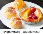 delicious choux cream | Shutterstock . vector #1098834050