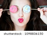 beauty fashion model girl with... | Shutterstock . vector #1098836150