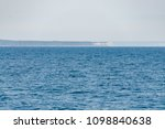Small photo of Fata Morgana or Mirage of Isle Royale Island National Park on Superior Lake