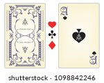 playing card template.   Shutterstock .eps vector #1098842246