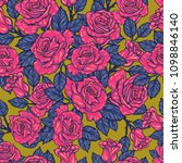 seamless floral pattern with... | Shutterstock .eps vector #1098846140