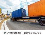 truck transportation on the... | Shutterstock . vector #1098846719