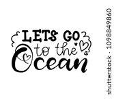let's go to the ocean. modern... | Shutterstock .eps vector #1098849860