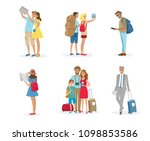 set of tourist people with... | Shutterstock .eps vector #1098853586