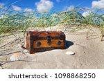 treasure chest on the beach | Shutterstock . vector #1098868250
