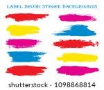 trendy label brush stroke... | Shutterstock .eps vector #1098868814