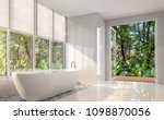 modern white bath room 3d... | Shutterstock . vector #1098870056