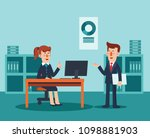 businessman and business woman... | Shutterstock .eps vector #1098881903