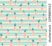 pattern with cute orange... | Shutterstock .eps vector #1098885413