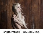 portrait of a beautiful naked... | Shutterstock . vector #1098889256