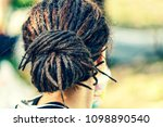 dreadlocks on the head of a... | Shutterstock . vector #1098890540