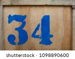 the number 34 is written in... | Shutterstock . vector #1098890600