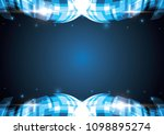 technology abstract stripe... | Shutterstock .eps vector #1098895274