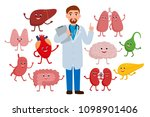 cheerful doctor and healthy... | Shutterstock .eps vector #1098901406