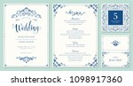 ornate wedding invitation ... | Shutterstock .eps vector #1098917360