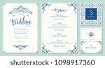 ornate wedding invitation ... | Shutterstock .eps vector #1098917360