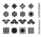 asian ornament icon  korean ... | Shutterstock .eps vector #1098930884
