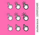 click hand icon set | Shutterstock .eps vector #1098932489