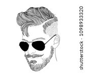 doodle handsome male drawing... | Shutterstock .eps vector #1098933320
