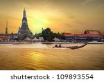 wat arun in sunset | Shutterstock . vector #109893554