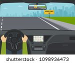car on highway view from the...   Shutterstock .eps vector #1098936473