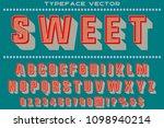 vintage font typeface... | Shutterstock .eps vector #1098940214