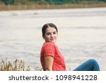 beautiful model in the wild... | Shutterstock . vector #1098941228
