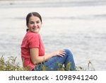 beautiful model in the wild... | Shutterstock . vector #1098941240