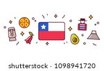 chile banner design elements.... | Shutterstock . vector #1098941720