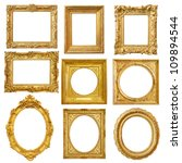 Set of golden vintage frame...