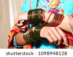 girl fashion bangles | Shutterstock . vector #1098948128