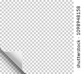 vector transparent sheet of... | Shutterstock .eps vector #1098948158