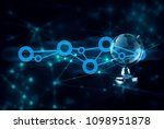 hand with internet global... | Shutterstock . vector #1098951878