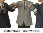 businessmen put the boxing... | Shutterstock . vector #1098956540