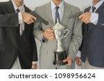 businessmen are robbed of... | Shutterstock . vector #1098956624