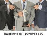 businessmen are robbed of... | Shutterstock . vector #1098956660
