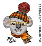 vector koala with yellow...   Shutterstock .eps vector #1098958916