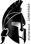 spartan helm calligraphic... | Shutterstock .eps vector #1098959069