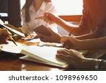asian business adviser meeting... | Shutterstock . vector #1098969650