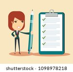 happy businessman holding a... | Shutterstock .eps vector #1098978218
