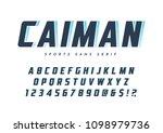 caiman trendy sans serif sports ... | Shutterstock .eps vector #1098979736